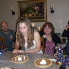Then with one poof...she blew-out the candles. And we all had some pie.