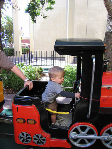 Owen finally gets a chance to drive the train