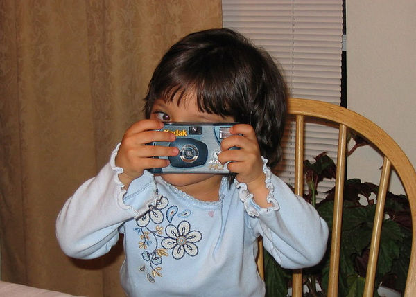 Lexi taking photos.