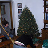Anna cleans up while Matt puts up the contraband tree