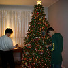 Lori and Alex decorating the Christmas tree.  ( 2005 )