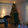 It's tradition for Cory and Alex to decorate the Christmas tree on the weekend after Thanksgiving.  ( 2005 )