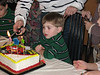 Ian ready to blow out  his candles