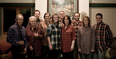 Family Photo, with plaid
