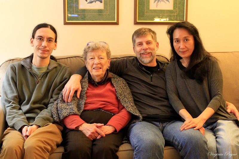 Family pics taken with a tripod...