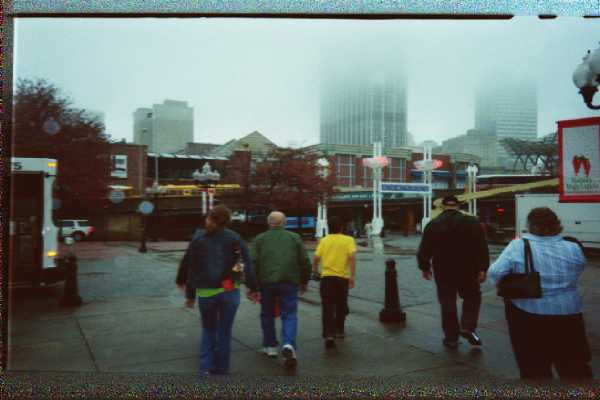 Exiting the Museum, heading towards the remnants (and I am not kidding here) of Underground Atlanta