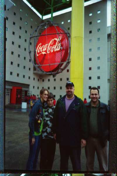 Aubrey, Reid, Mark and Mike at the entrance to the Coke Museum in Atlanta- November 2004