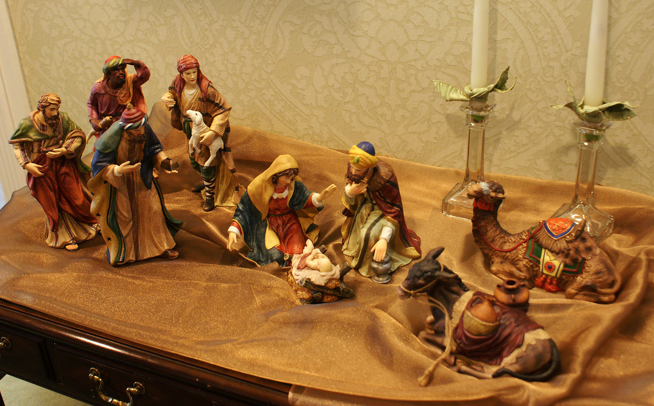 Nativity Scene outside Brenda Yost's office at Grace Ridge.
