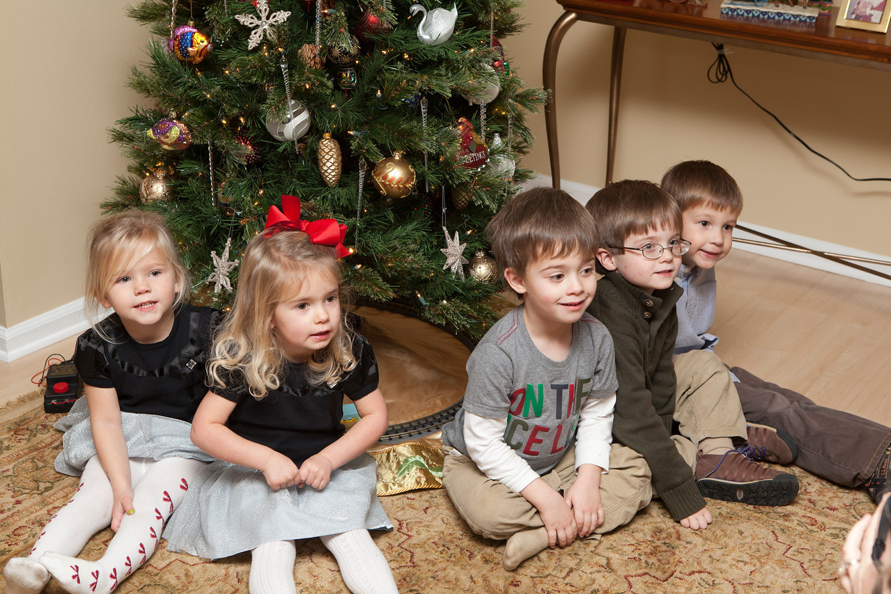 Cute little children on Christmas Eve,right now,no they were very we behaved,very happy,and pleased with what they had received.I know I had a great time with them.Gruncle Dave