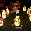 This home at 83 Tolman Avenue in Leominster allows you to walk through their holiday display that has more ornaments then you can count. This is just some of the snow men in the yard. SENTINEL & ENTERPRISE/JOHN LOVE
