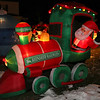 This home at 83 Tolman Avenue in Leominster allows you to walk through their holiday display that has more ornaments then you can count. There are many Santas in the display doing many things. This one is driving the Reindeer Railways. SENTINEL & ENTERPRISE/JOHN LOVE