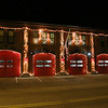 The Leominster fire station on Church Street has gotten into the holiday spirit. SENTINEL & ENTERPRISE/JOHN LOVE