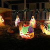 This home at 83 Tolman Avenue in Leominster allows you to walk through their holiday display that has more ornaments then you can count. In the front yard is a manger scene. SENTINEL & ENTERPRISE/JOHN LOVE