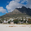 Another shot of Camps Bay and its mountainous background