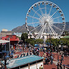 The V&A waterfront is home is home to a number of attractions including an observation wheel.