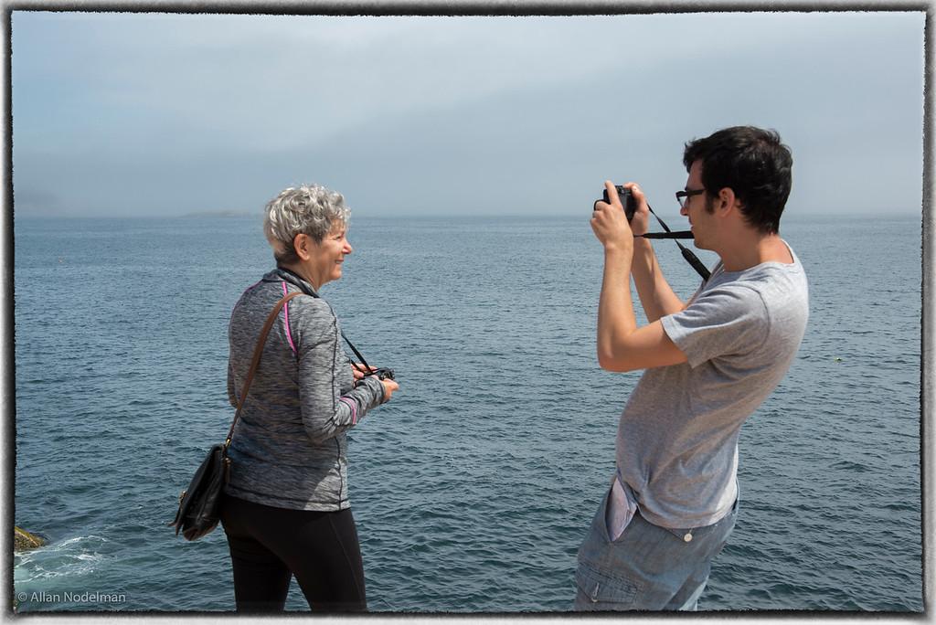 Taking Photos on Acadia Park Shore