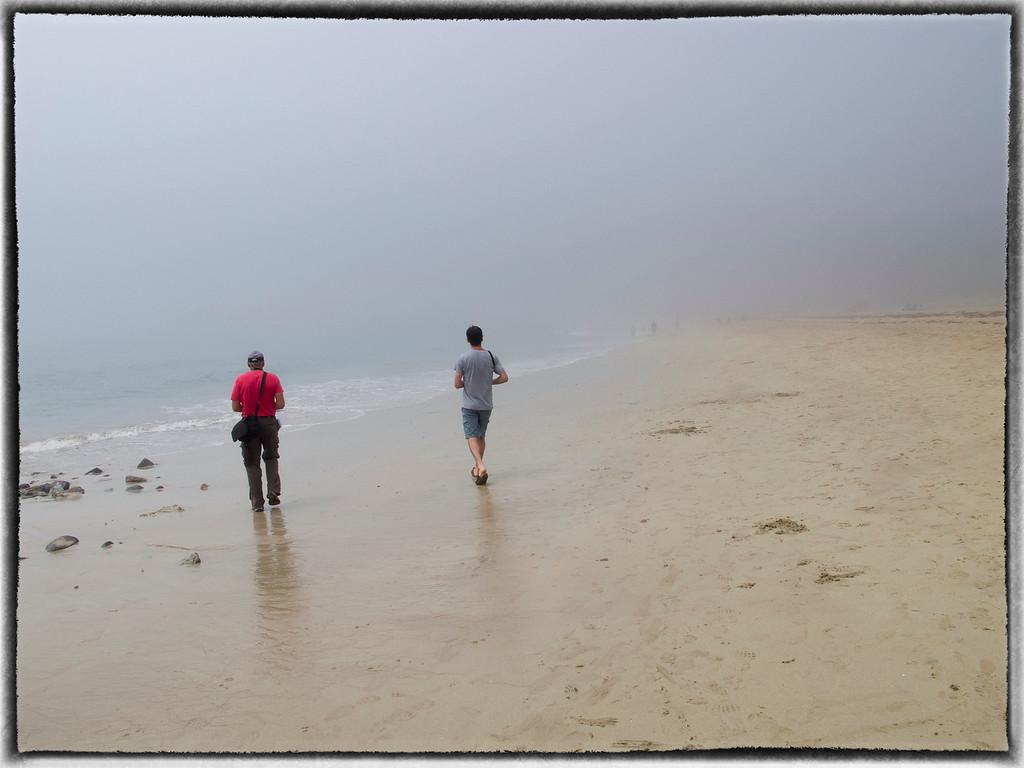 Foggy Sand Beach in Acadia National Park