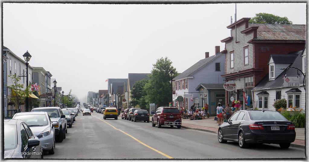 Fog Coming up Water Street in Saint Andrews NB