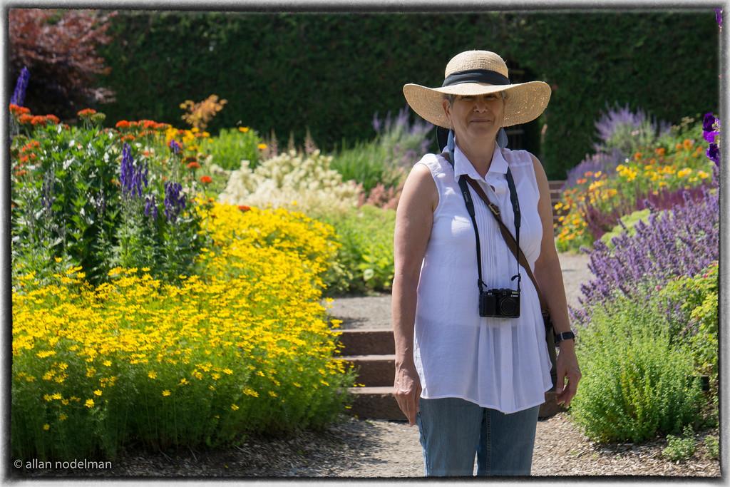 Sharon in Kingsbrae Gardens in Saint Andrews