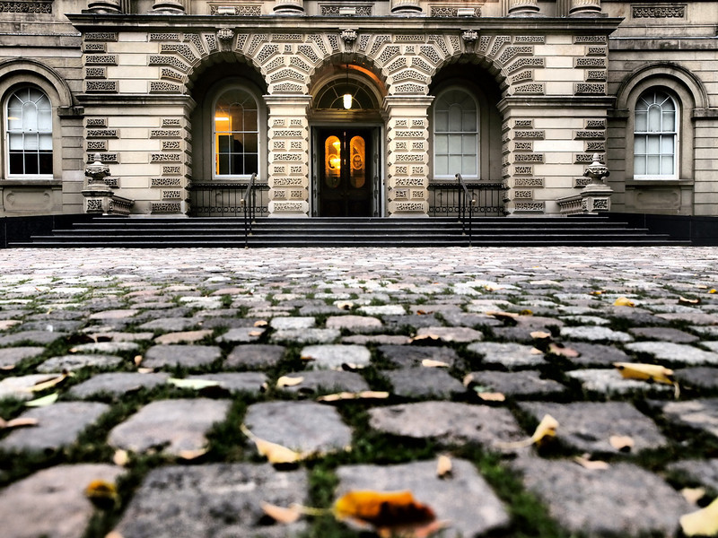 This was taken at the Law Society building. Lovely old cobblestone road way in front of the grand building