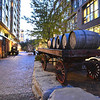 At the historic distillery district. A few old barrels on an old wagon. One of my fave pics.