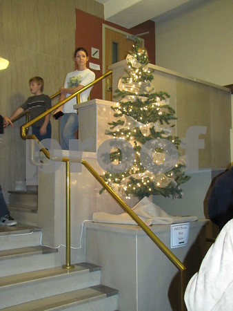 The Wakonsa building in downtown Fort Dodge was beautifully decorated to welcome the crowd visiting Santa.