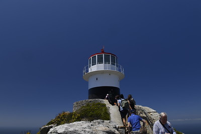 Visiting the new light house at Cape Point