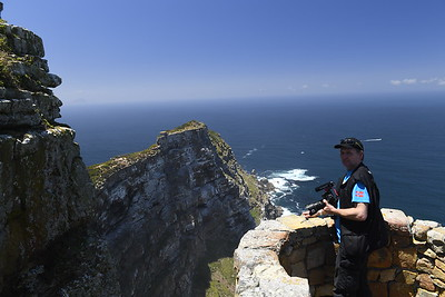 Me looking at the great view at Cape Point