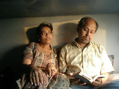 Maitreyee, Kanti on Rajdhani Express to Kolkata