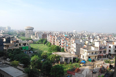 Vaishali neighbourhood and Delhi in the distance