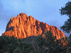 Zion Park - Cliff Sides Lit by Setting Sun 003