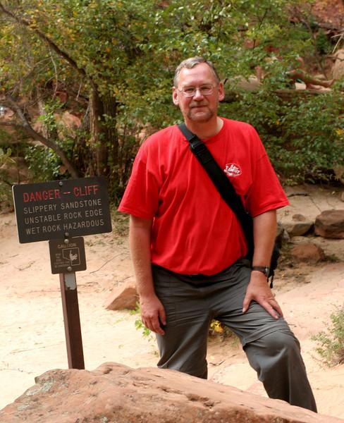 Zion - Emerald Pools Trail - Dangerous Cliff