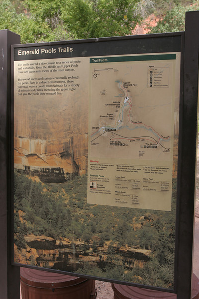 Zion - Emerald Pools Trail - mSign