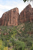Zion - Emerald Pools Trail - View of Cliffs - 003