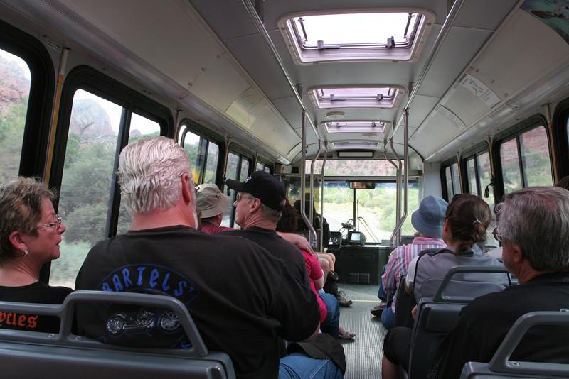 Zion - Inside Shuttle