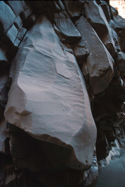 sakikent gorge - erosion on gorge walls