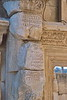 ephesus - library of celsus - script on pillar