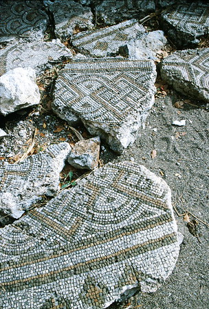 olympos - mosaic details