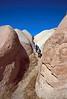 goreme hike - climbing a hill