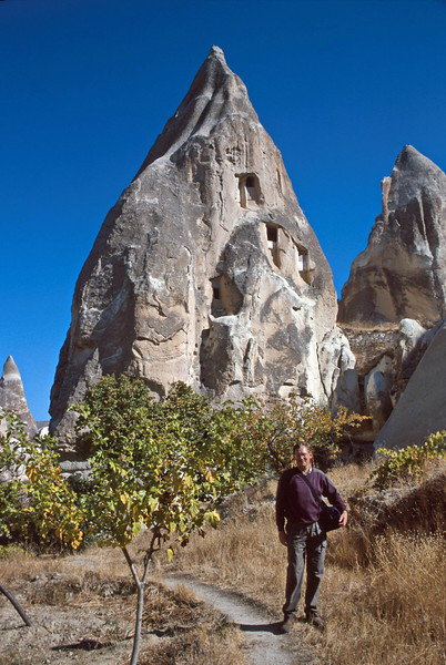 goreme hike - cliff and pinnacle