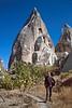goreme hike - cliff and pinnacle