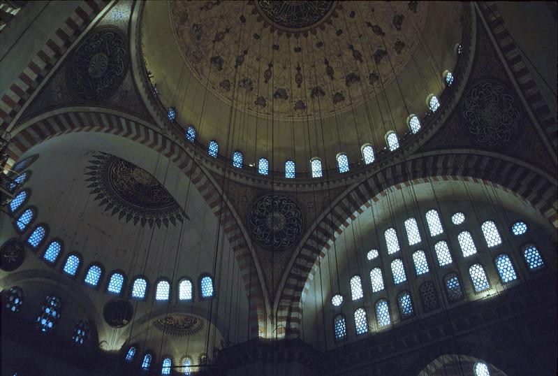istanbul - suleymaniye mosque - interior dome