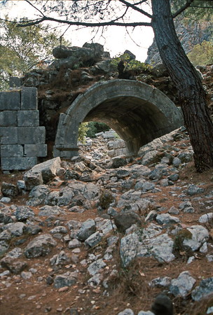 olympos - archway into theatre
