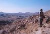 goreme hike - veena on a hill