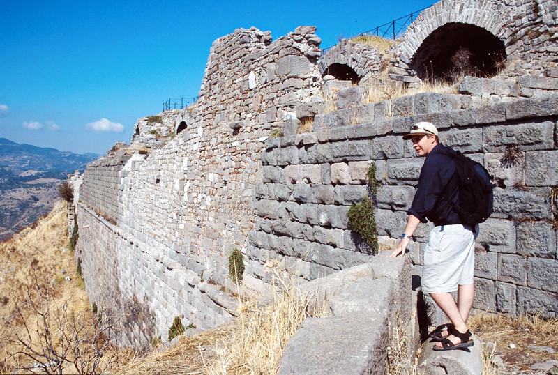 pergamum - brian by acropolis wall