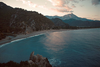olympos - beach and mountain view 2