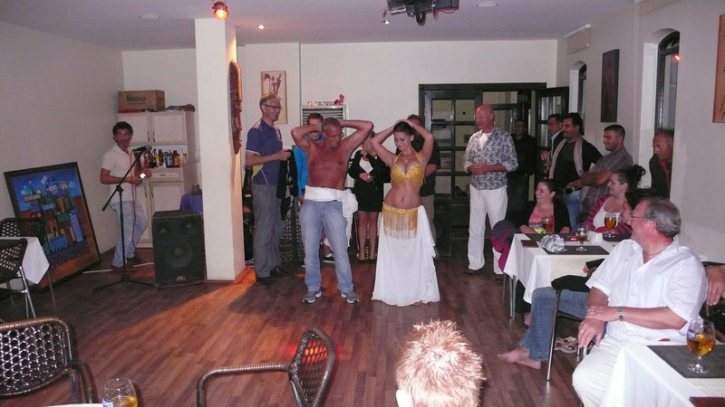 Stick to the golf Martin; belly dancing is best left to the locals