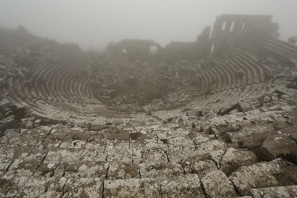 The Theatre was in a pretty good condition but hard to see because of fog.