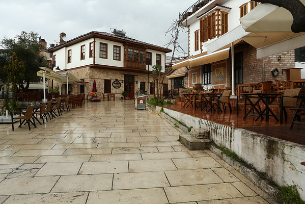 Shortly after the rain stopped I started to explore the old city, Kaleici. The streets were almost empty.