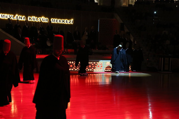The ritual is not supposed to be a tourist show but to promote the real ceremony, also known as Sema dance. There are 7 parts symbolizing the whirling dervish's love of God, humankind and creation.